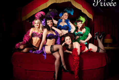 Privee - Burlesque And Cabaret Show with Three Course Meal with a Champagne Cocktail Each for Two - Save 65%