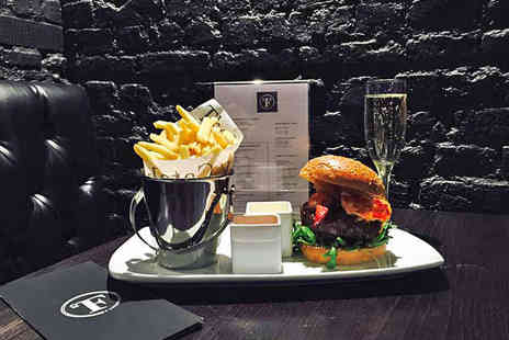 Fahrenheit Burger - Gourmet Burger with French Fries and Glass of Wine Each for Two - Save 0%