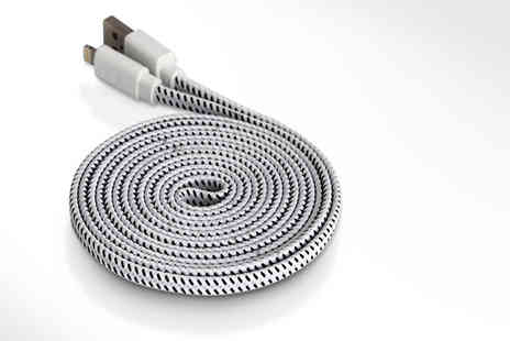 Aven Republic - Three metre braided iPhone night Eight pin lightning cable - Save 0%