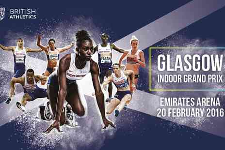 UK Athletics -  Ticket to Glasgow Indoor Grand Prix on 20 February - Save 0%