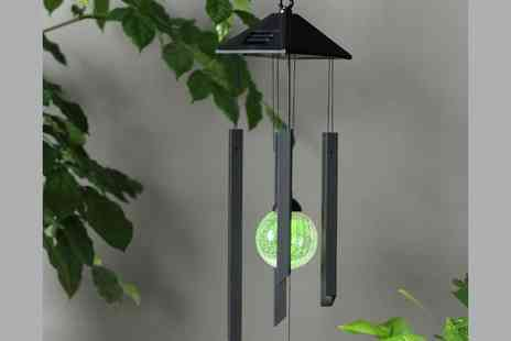 Gift Mountain -  Solar Powered Colour Changing Wind Chime   - Save 77%