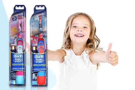 My Perfume Room - Kids Oral B battery powered toothbrush in Pixar Cars or Disney Princess designs - Save 55%