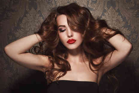 Kim & Zees Beautiful Hair Creations - Cut, conditioning treatment and blow dry with bubbly and a mince pie - Save 74%