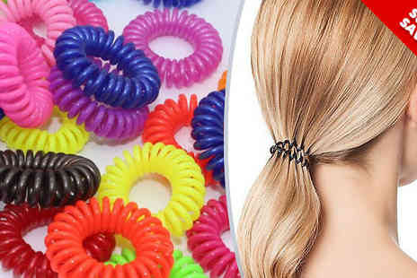 Beautyfit - Pack of 50 or 100 Anti Tangle Hairbands - Save 80%