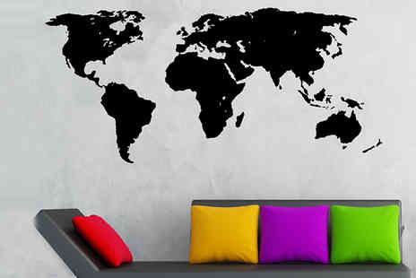 Spicy Decor - World Map Chalkboard Decal - Save 75%