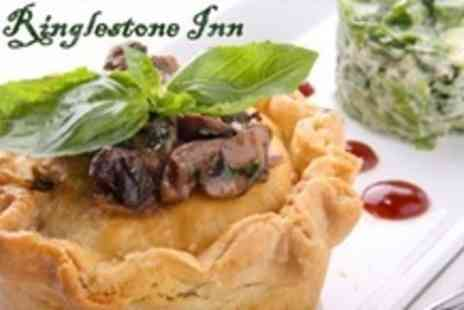 The Ringlestone Inn - Starter and Main Course of British Fare For Two - Save 59%