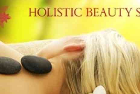 Holistic Beauty Spa - Full Body Hot Stone Massage With Facial Plus Hot Stone Hand and Foot Treatment For Two - Save 83%