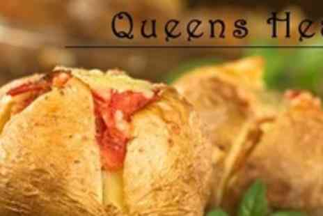 Queens Head - Meal For Two With Sides and Drink Each - Save 60%