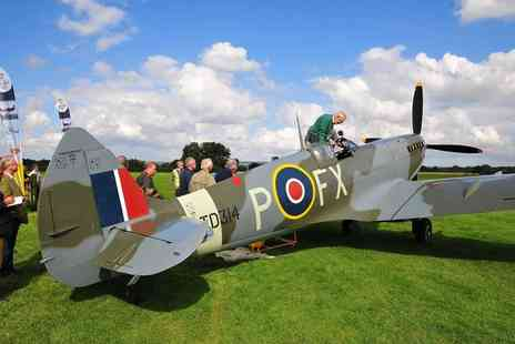 Aero Legends - Spitfire Cockpit Experience with Refreshments Sywell or Headcorn Aerodrome  - Save 45%