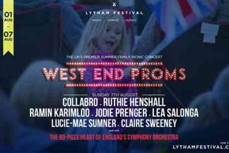 Cuffe & Taylor - Olympia, London to West End Proms Lytham Festival Picnic Concert on 7th August 2016 Save 0%