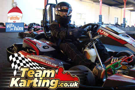 Teamkarting - 30 minute go karting experience with 60 laps - Save 53%