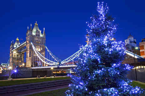 Thames Party Boats - Christmas party boat cruise on the Thames with a bubbly reception for a NYE ticket for one including a buffet meal - Save 44%