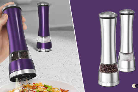 Harvey Robb - Morphy Richards Electric Salt And Pepper Mill - Save 70%