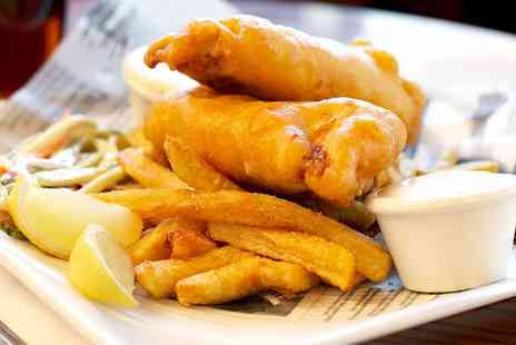 Boswells Bar - Two Course Fish and Chips Meal With Hot Drink For Two  - Save 51%