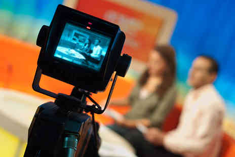 The TV Training Academy - One day Be a TV Presenter' or business presenting course - Save 94%