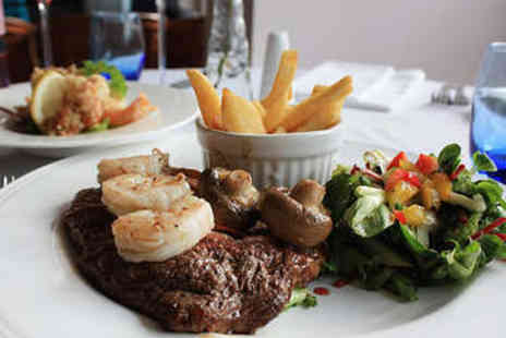 Surf and Turf - Two Course Steak and Seafood Meal for Two - Save 55%