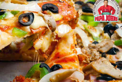 Papa Johns - Medium Takeaway Pizza, Delivery Incl - Save 52%