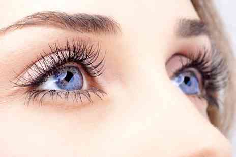L and S Hair and Beauty - Full Set of Mink Eyelash Extensions by Lavish with Optional Eyebrow Wax and Tint   - Save 28%
