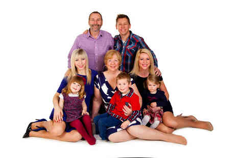 Premier Photography - One hour group or family photoshoot for up to 15  with 12 prints  - Save 0%