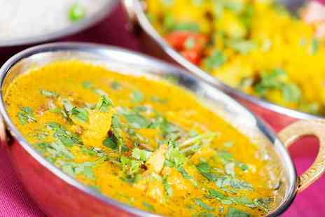 Grill and Chill - Two Course Indian Meal with Sides for Two  - Save 57%