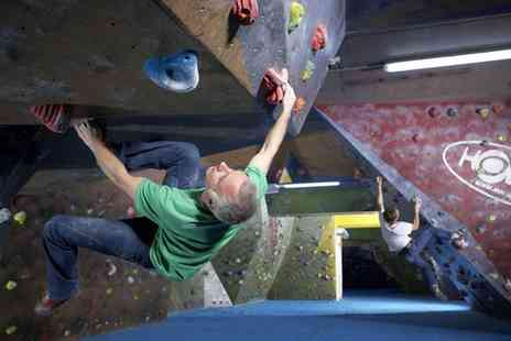 The Climbing Academy - Two Indoor Climbs, Shoe Hire and Club Membership for Up to Four - Save 69%