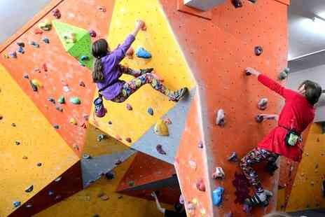 Climb Rochdale pink climbing centres - Climbing Day Pass for Up to Five with Bouldering Instruction - Save 73%