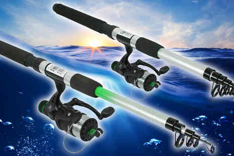 Plus Bee - Set of Two Telescopic Fishing Rods - Save 0%