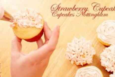 Strawberry Cupcakes - 2.5 Hour Cupcake and Chocolate Flower Making Class For One - Save 78%