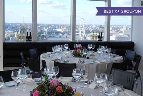 Altitude 360 - Four Course Valentines Dinner, Free Flowing Wine, Bubbly, and Window Seat Overlooking London  - Save 48%