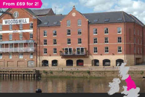 The Queens Hotel - Overnight stay Riverside York For two with Breakfast - Save 0%