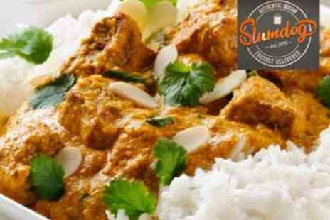 Slumdog Delivered - Two Course Indian Takeaway Meal for Two - Save 64%