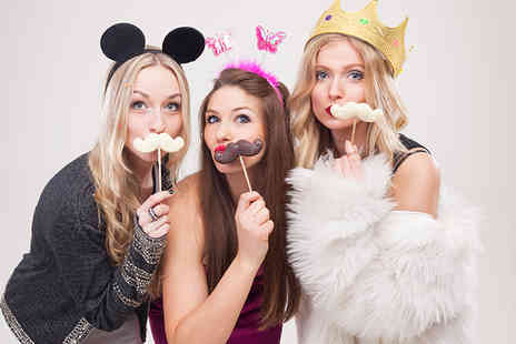 Event Booth Hire - Three hour photobooth hire including 200 prints - Save 58%