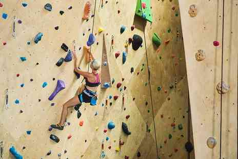 Climb Rochdale Indoor Climbing Centre - Climbing Lesson with Day Pass for Two  - Save 66%