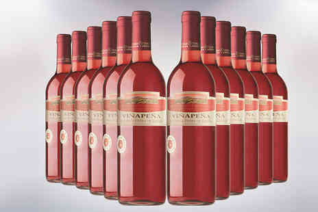 Global Deals - 12 Bottles of Vinapena Rose Spanish Wine - Save 75%