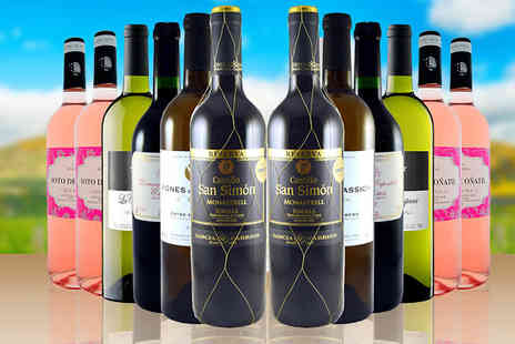 Global Deals - 12 Mix Bottles of Spanish and French Wine - Save 60%