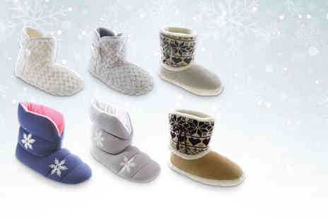 Urshu - Pair of cosy slipper boots  - Save 75%