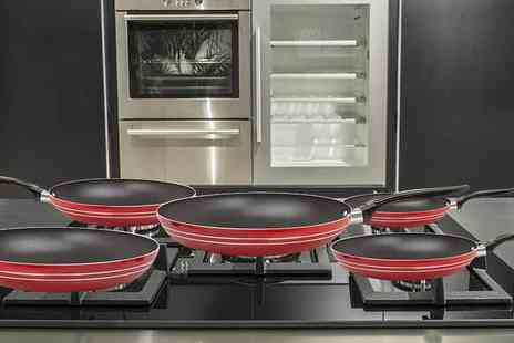 CK Collection - Five piece non stick frying pan set - Save 77%