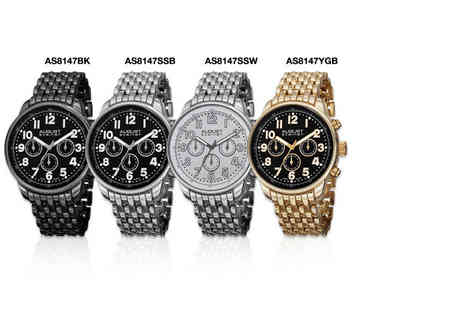 Product Shelf - Mens August Steiner watch choose from four stunning styles - Save 0%