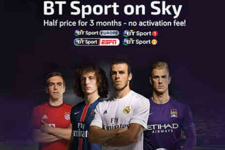 LivingSocial Shop  - Three Month Subscription of BT Sport on Sky  - Save 93%
