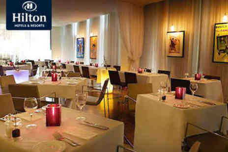 The Hilton  - Two Course Dinner for Two with Prosecco - Save 46%