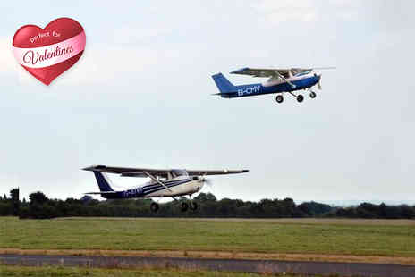Go Fly Oxford -  50 minute Valentines flying experience for two   - Save 60%