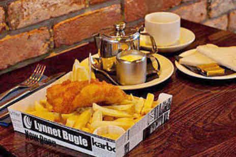 The Chippy Doon the Lane - Fish and Chips with Coffee for Two - Save 0%