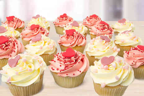 Anns Designer Cakes -  18 Valentines cupcakes Plus Delivery Included  - Save 0%
