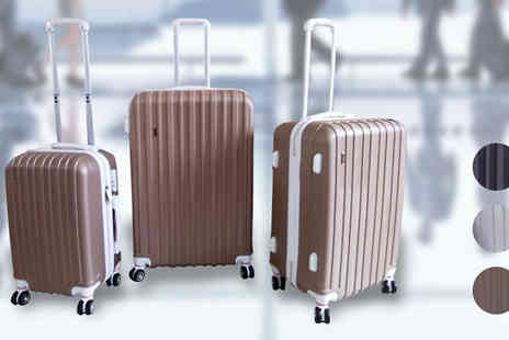 Mccalifornia - Three Piece Luggage Set Available in Three Colours - Save 81%
