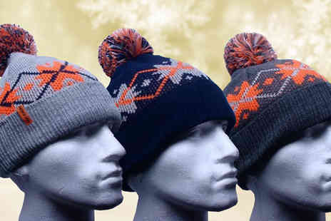 Mccalifornia - Unisex Knitted Bobble Hat Available in Three Colours - Save 68%
