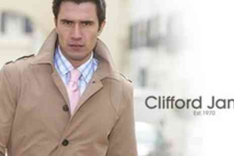 Clifford James - Mens Short Trench Jacket in Choice of Colours - Save 69%