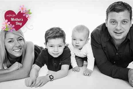 GAP Photography - Family photoshoot for up to five including a mini makeover for mum and a digital image   - Save 0%