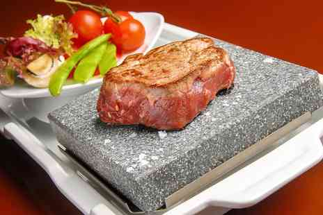 Double Barrel Steakhouse - 10oz, 15oz or 20oz Rump Served on a Hot Rock With Chips For Two or Four - Save 44%