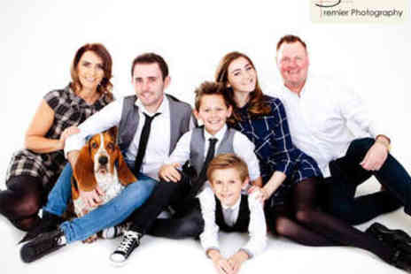 Premier Photography - Family Photo Shoot with Mounted Print - Save 0%