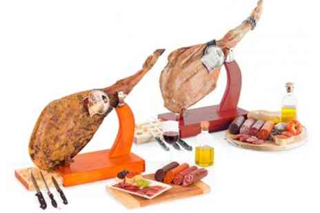 Delizius Deluxe - Serrano or Iberian Ham Shoulder With Stand and Accessories With Free Delivery - Save 71%